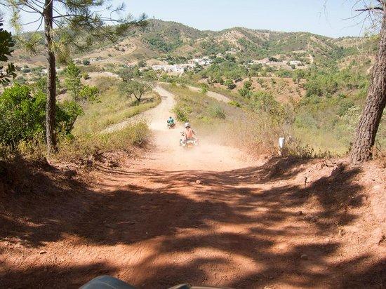 Quad Ventura : Going downhill on the quads!