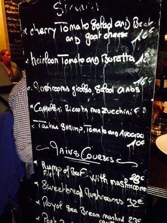 Pouic-Pouic: This was the menu