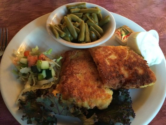 Uncle Kippy's: pan fried haddock meal