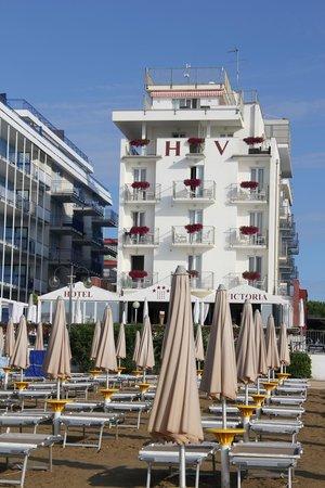 Hotel Victoria Frontemre : Hotel vom Strand aus