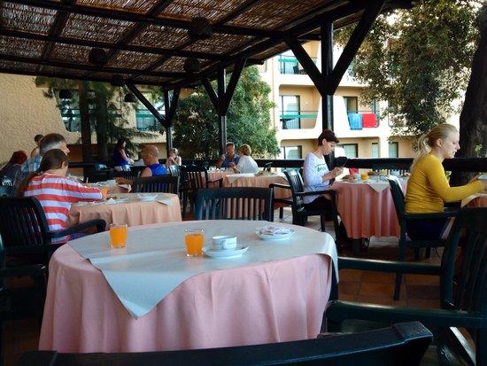 Dom Pedro Garajau Hotel: Śniadania na tarasie z wschodem słońca w tle :)
