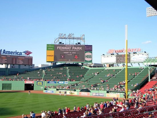 Fenway Park: In the outfield