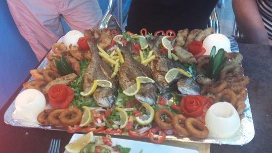 Melodi Hotel: this was our fish platter that was made for us