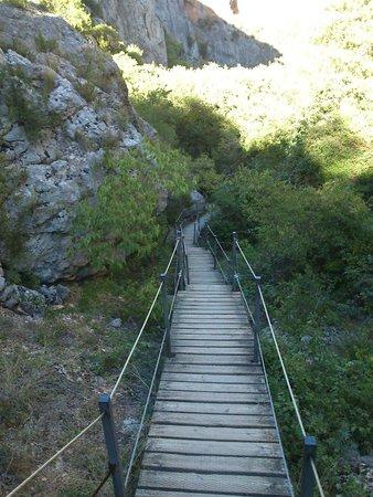 Villa de Alquezar: pasarelas del vero