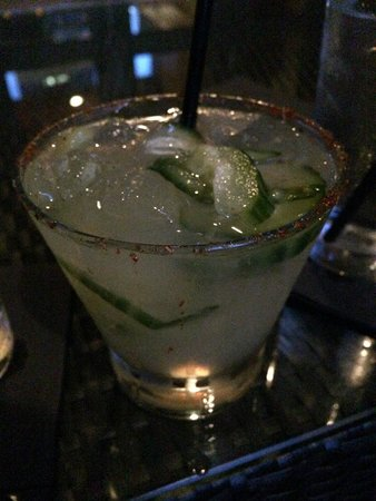 Hotel Valencia Riverwalk: Spicy Cucumber Chili cocktail