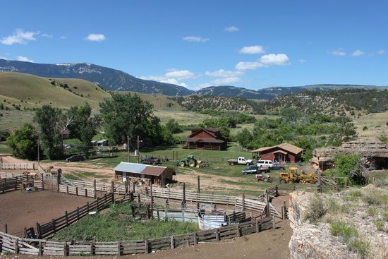 Dryhead Ranch: View from hillside
