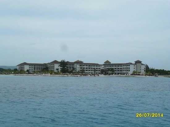Secrets St. James Montego Bay: Beautiful hotel view from the boat