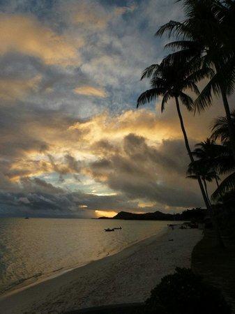 Bora Bora, Franska Polynesien: Il tramonto. ..
