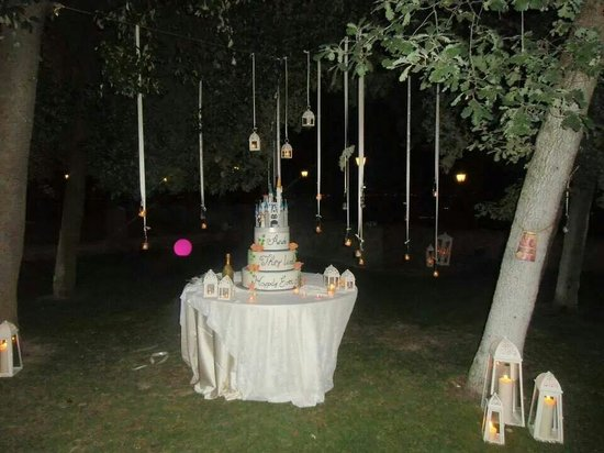 Castello di Rosciano: Il taglio della torta! !