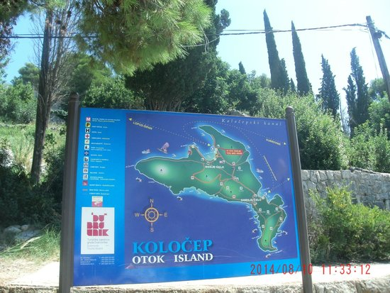 TUI SENSIMAR Kalamota Island Resort : island info board in harbour
