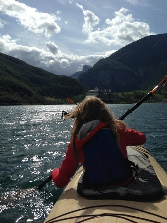 Njord - Seakayak and Wilderness Adventure Day Tours: paddling on the Fjord