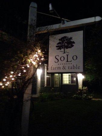 SoLo Farm and Table: Signage outside - beautiful setting!