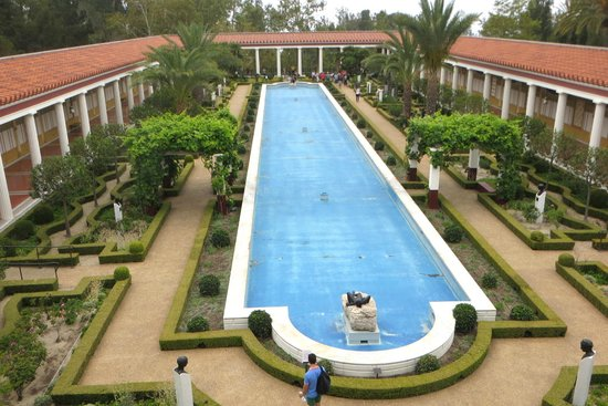 The Getty Villa : the drained reflecting pool