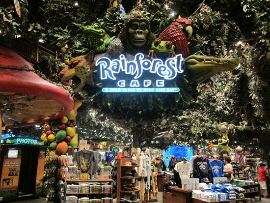 Rain Forest Cafe At Mgm Grand Hotel And The Of Restaurant