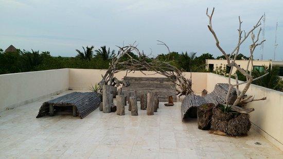 Hotel Xixim: Una terraza