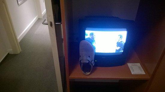 Hotel Wedina: Uralt-Fernseher