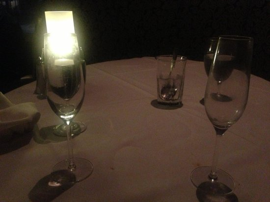 Ruth's Chris Steak House : My empty glass waiting for service.