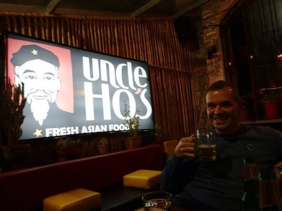 Beer at Uncle Ho's was good!