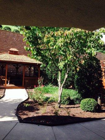 Courtyard Danville : Lovely outdoor space behind The Danville Courtyard Marriott