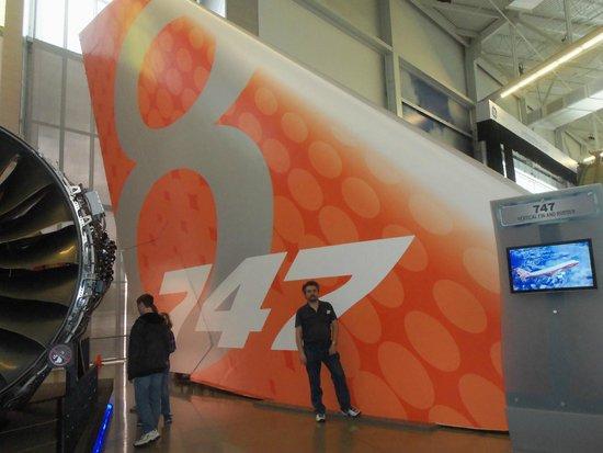 Future of Flight Aviation Center & Boeing Tour: 747 tail fin