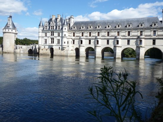 Chateau de Chenonceau: Chenonceaux from the left hand river bank