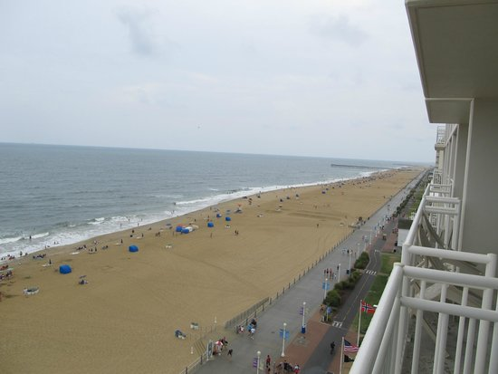 Courtyard Virginia Beach Oceanfront/South: Beach is always busy!!