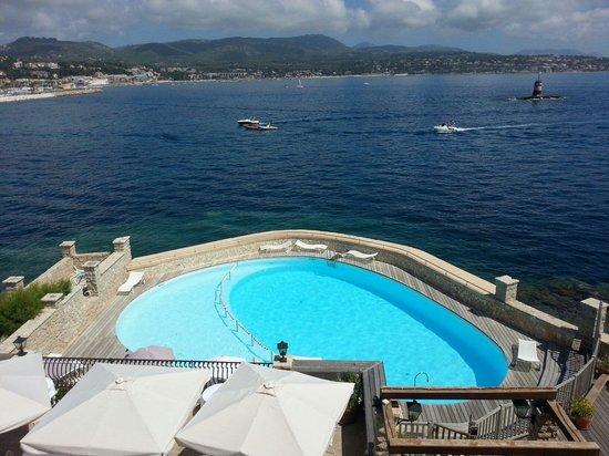 Hotel Le Delos : Vu d'une chambre 2eme étage, au bâtiment principal le Delos
