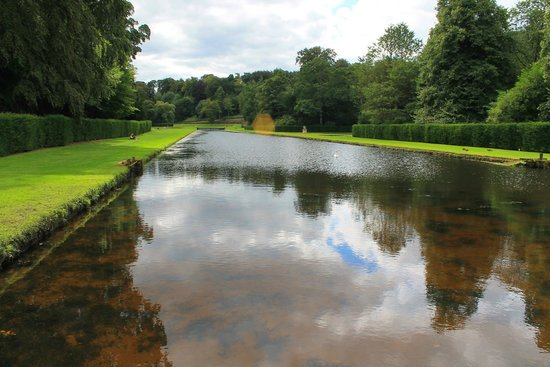 Fountains Abbey and Studley Royal Water Garden: A view of part of the gardens