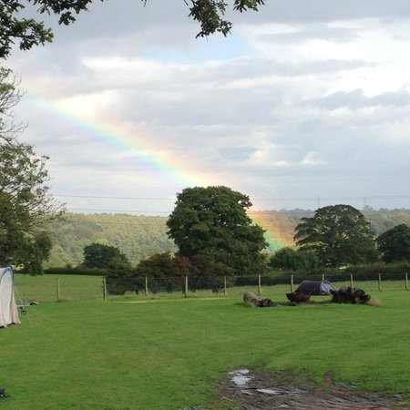 The Cud Life: Rainbow on arrival across the campsite!