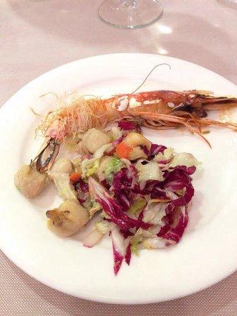 Hotel Baia del Mar : Piattino con alcuni Antipasti a buffet