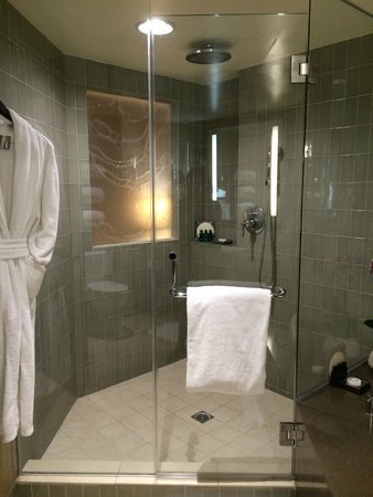 Sofitel Los Angeles at Beverly Hills : Shower with window looking into bedroom