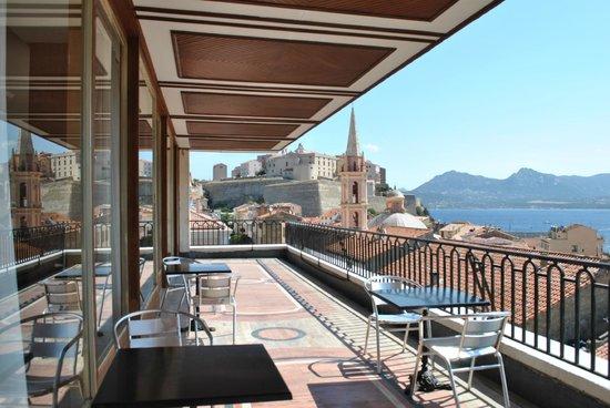 Petit Dejeuner Sur La Terrasse Photo De Grand Hotel De Calvi Corse Tripadvisor