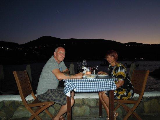 Skala Beach Restaurant: romantic dinner on the beach