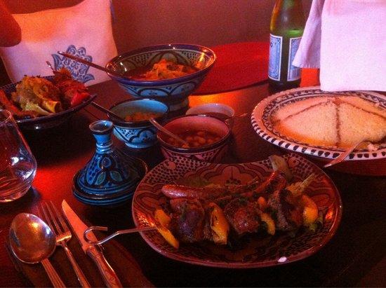 L'Adresse Marocaine : Spiedino e salsicce