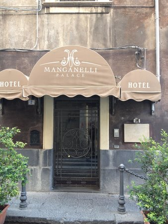 Manganelli Palace Hotel: l'entrata dell'hotel