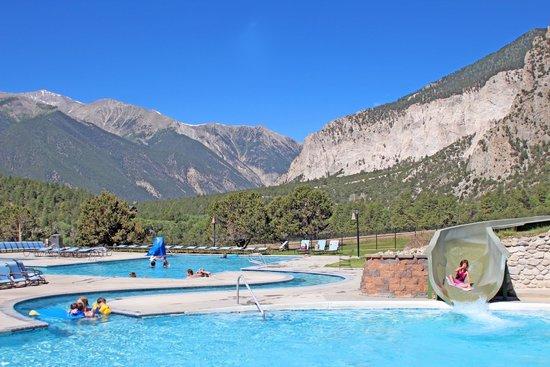 Nathrop, CO: 400' water slide at Mount Princeton Hot Springs Resort