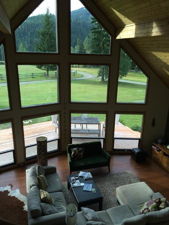 Home Lodge: view from living room