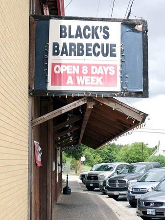 Black's Barbecue: the advertisement
