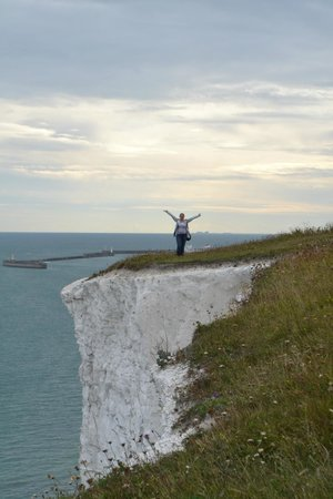 White Cliffs of Dover: Me on the cliffs.