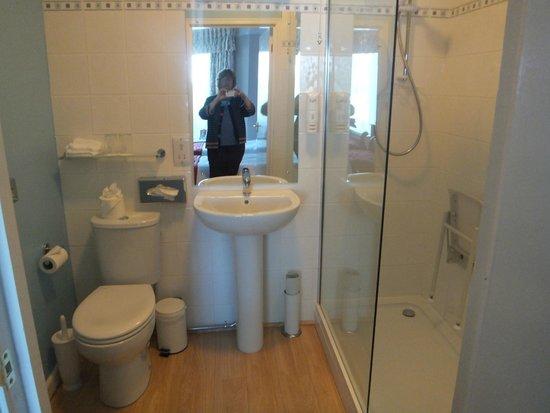 Lifton Hall Hotel: Our room's bathroom very comfi