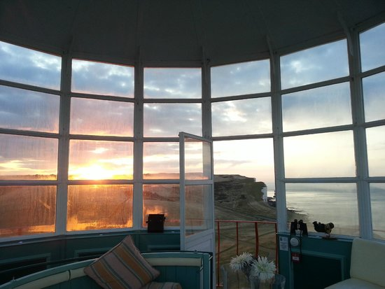 Belle Tout Lighthouse: Sunrise from the lamproom on my birthday !