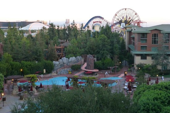 Disney's Grand Californian Hotel & Spa: View from concierge level room 6308 (daytime)