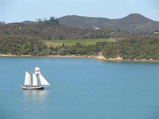 The Retreat: R Tucker Thompson sailing past