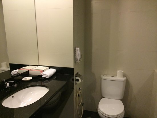 Grands I Hotel: The sparkling clean toilet with all toiletries amenities