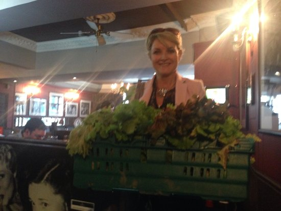 Fresh home grown produce arriving just in time for lunch at Toscana Restaurant, Dame Street, fro