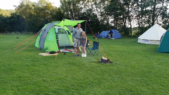 Fisherground Campsite: Our pitch