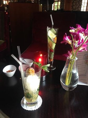 Pennyhill Park, an Exclusive Hotel & Spa: beautiful drinks.