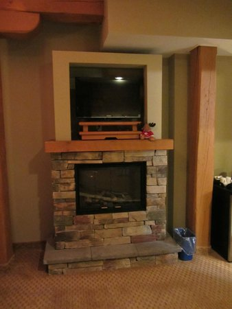 Murray Premises Hotel: Fireplace in the room.
