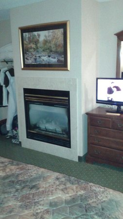 Riverside Towers: Fireplace and closet area