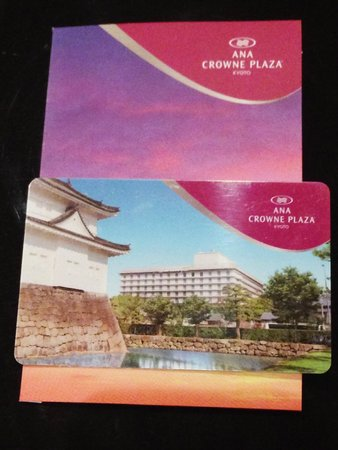 ANA Crowne Plaza Kyoto: IC内蔵キーカード